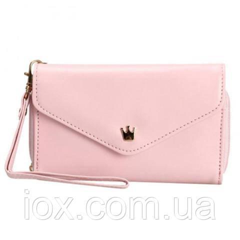 Розовая чехол-сумочка-кошелек