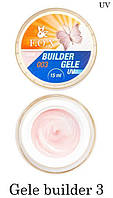 Моделирующий гель-желе F.O.X Gele builder 3 gel UV (молочно-розовый)15 мл