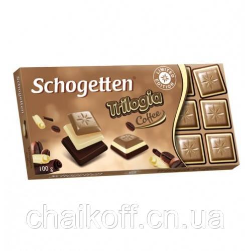 Шоколад Schogetten  Trilogia Coffee 100 г (Германия)