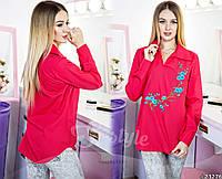 Блуза с длинным рукавом с вышивкой
