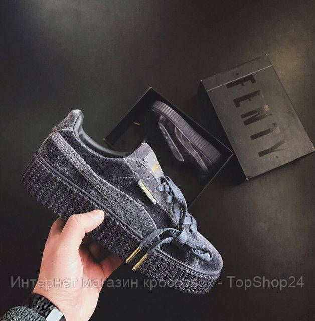 Купить Женские кроссовки Puma Rihanna Creepers Velvet