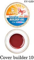 Камуфлирующий гель F.O.X Cover (camouflage) builder gel UV+LED № 10 (вишневый) 15 мл