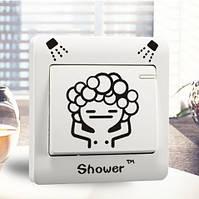 """Интерьерная наклейка на выключатель """"Shower"""" в ванную"""