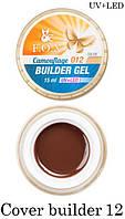 Камуфлирующий гель F.O.X Cover (camouflage) builder gel UV+LED № 12 (шоколад) 15 мл