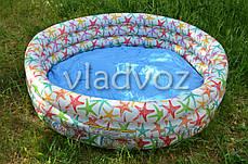 Детский надувной бассейн 3 кольца 168-41см 481л. Intex 56440, фото 2