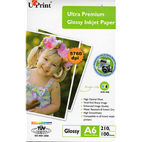 Фотобумага UPRINT Ultra глянец 10х15, 210г/м2, 100 листов