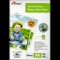 Фотобумага UPRINT Ultra глянец 10х15, 180г/м2, 100 листов