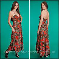 """Летний женский сарафан длинный """"Цветной Бантик"""" в расцветках, фото 1"""