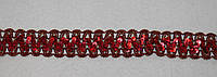 Тесьма декоративная люрекс красная  6121