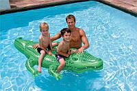 """Детский надувной плотик """"Крокодил"""" Intex 58562 203*114см, надувной крокодил для плавания, плотик Интекс"""