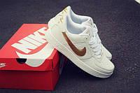Мужские кроссовки NIKE Air Force 1 Summer Low белые с золотым