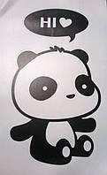 """Интерьерная наклейка """"Привет с любовью от Панды"""""""