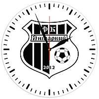 """Настенные часы из стекла """"Логотип """"ФК Янтарний"""""""