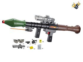Детский автомат F15A стреляющий водяными шариками пулями, аккум.