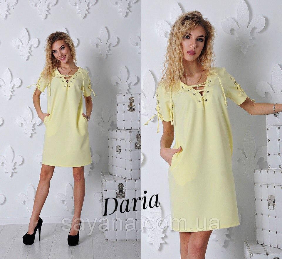 Женское платье с декором в расцветках. Ч-107-0417
