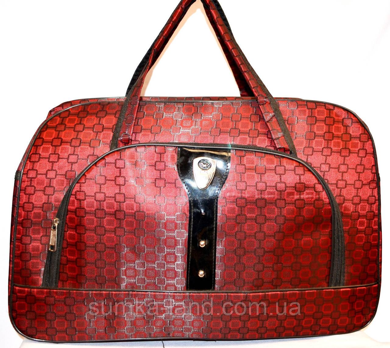 Женские дорожные сумки из текстиля 54х34 (КРАСНЫЙ)