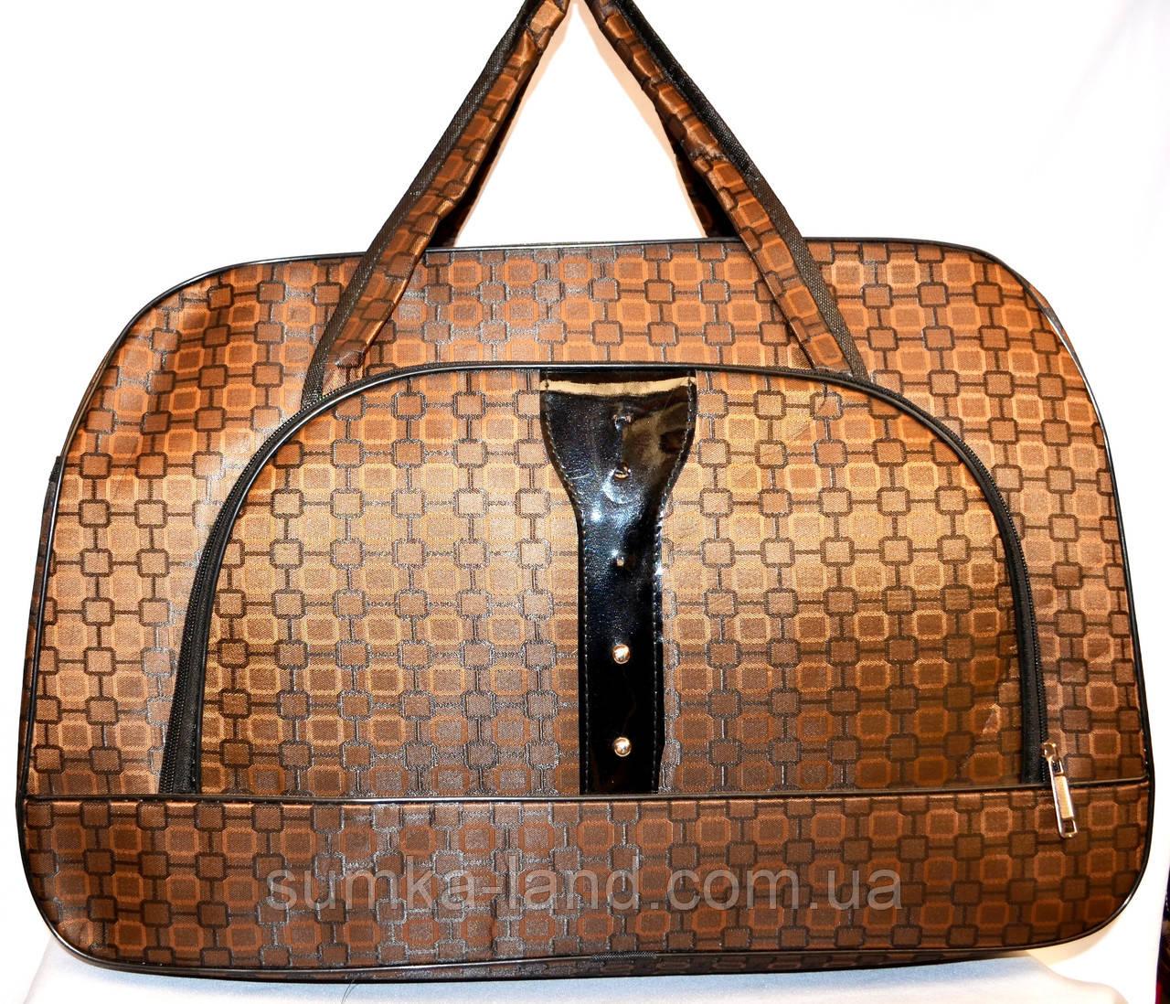 Женские дорожные сумки из текстиля 54х34 (КОРИЧНЕВЫЙ)