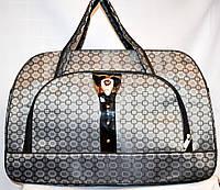 Женские дорожные сумки из текстиля 54х34 (СЕРЫЙ), фото 1