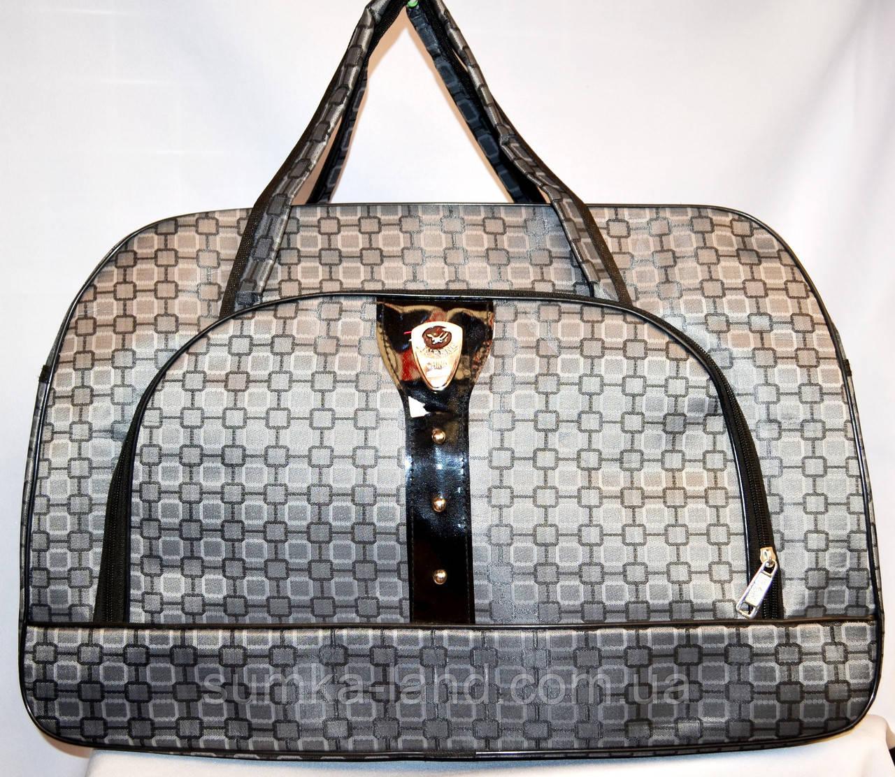 Женские дорожные сумки из текстиля 54х34 (СЕРЫЙ)