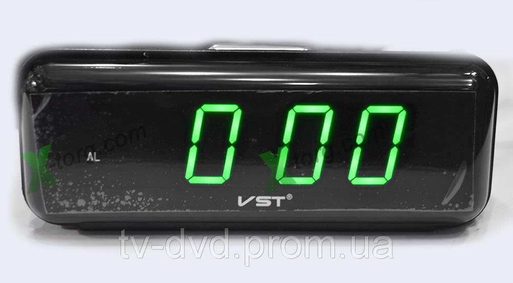 ЧАСЫ электронные СЕТЕВЫЕ VST-738-4 ярко-зеленые