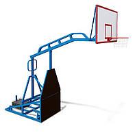 Стенд баскетбольный мобильный, щит - акриловый InterAtletika УТ416