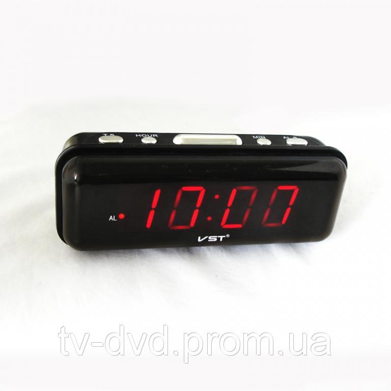 ЧАСЫ электронные СЕТЕВЫЕ VST-738-1 красные