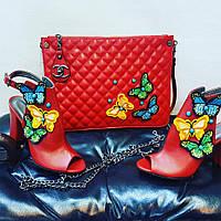 Наборы Шанэль сумочка, туфли. Красный
