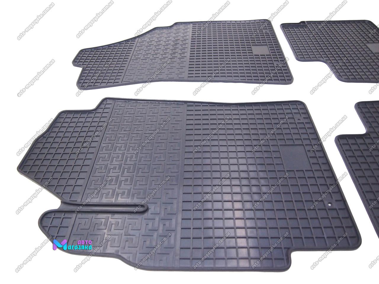 Коврики резиновые для Daewoo Matiz 1998-2008 Передние (POLYTEP CLASSIC