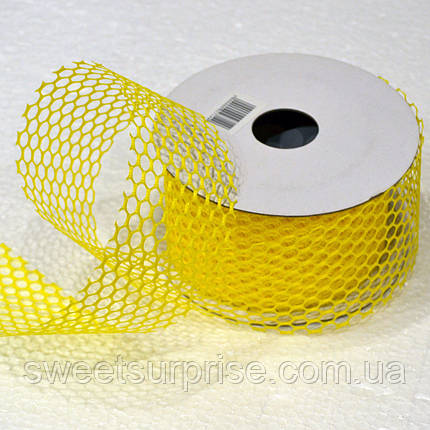 Лента декоративная 60 мм. (желтый), фото 2