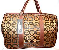 Женские дорожные сумки из текстиля 48х34 (КОРИЧНЕВЫЙ)