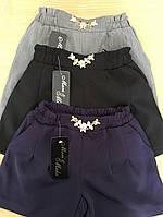 Шорты детские ,ткань мадонна синяя .чёрная и серые тиар, супер качество мм №610-130