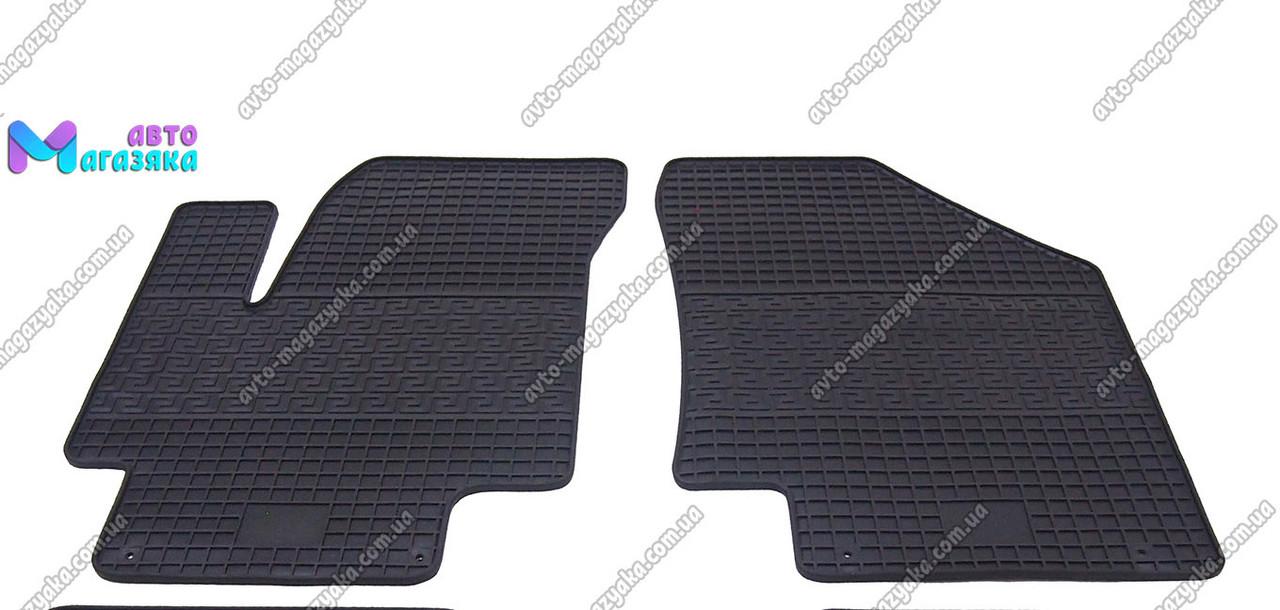 Коврики резиновые для Hyundai Accent 2006-2010 Передние (POLYTEP LUX)