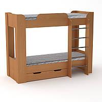 Кровать с матрасами двухъярусная Твикс-2 бук Компанит, фото 1