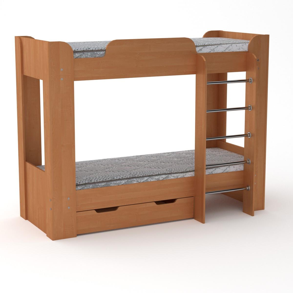 Кровать с матрасами двухъярусная Твикс-2 ольха Компанит