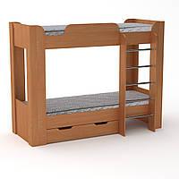 Кровать с матрасами двухъярусная Твикс-2 ольха Компанит, фото 1