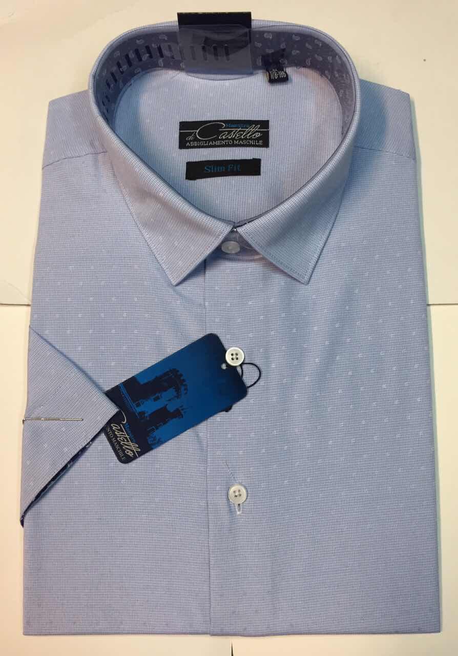 Рубашка мужская Castello короткий рукав Tissor 14-K-sl