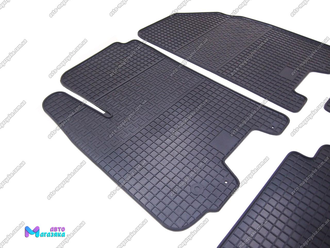 Коврики резиновые для Chevrolet Aveo 2002-2012 Передние (POLYTEP LUX)