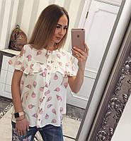 Блуза с принтом мороженое