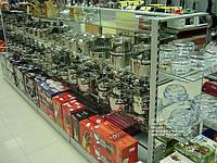 Стеллаж торговый для сковородок и посуды. Торговое оборудование для магазина посуды. WIKO Киев, фото 1