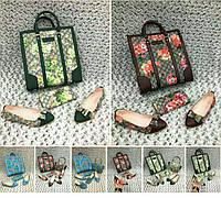 Самые стильные наборы GUCCI: сумочка, обувь, кошелек, цветочный принт