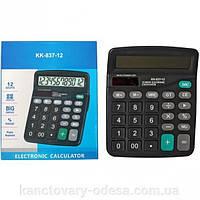 """Калькулятор """"EATES"""" DC-837 (12 разрядный, 2 питания)"""