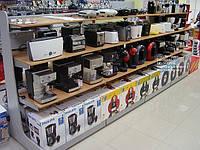 Стеллаж торговый под бытовую технику. Стеллажи для магазина электроники. Торговое оборудование WIKO, фото 1