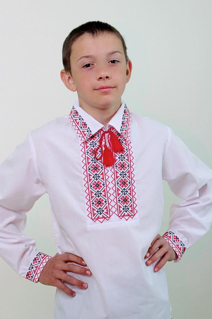 Вышиванка для мальчика Остап с рубашечным воротником