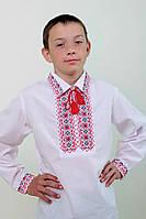 Вышиванка для мальчика Остап с рубашечным воротником, фото 1