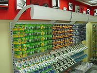 Стеллажи в магазин под аксессуары. Стеллаж для магазина электроники. Торговое оборудование ВИКО Киев