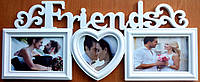 Мультирамка на 3 фото Friends біла, фото 1