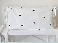 """Защитные бортики в кроватку """"Треугольники"""""""