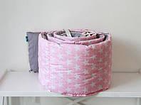 Защитный бортик для круглой или овальной кроватки