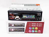 Магнитола автомобильная 3215 USB + RGB подсветка + Fm + Aux + пульт (4x50W)