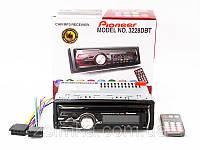 Автомагнитола Pioneer 3228 DBT Bluetooth Usb + RGB подсветка + Fm + Aux + пульт